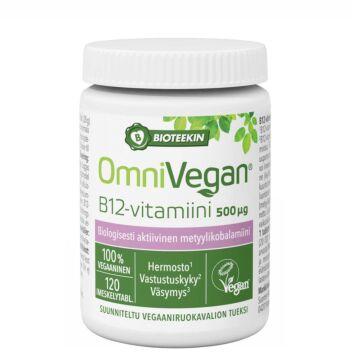 BIOTEEKIN OMNIVEGAN B12-VITAMIINI TABL 120 KPL