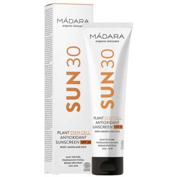 MADARA SUN PLANT STEM CELL ANTIOXIDANT SUNSCREEN SPF30 BODY, HANDS AND FACE 100 ML