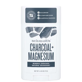 SCHMIDT'S DEODORANT STICK CHARCOAL + MAGNESIUM 75 G