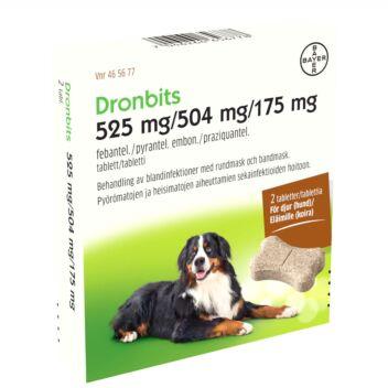 DRONBITS VET TABLETTI 525MG/504MG/175MG