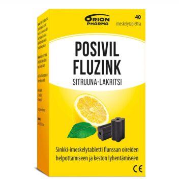 POSIVIL FLUZINK SITRUUNA-LAKRITSI IMESKELYTABL 40 KPL