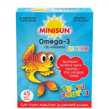 MINISUN OMEGA-3 + D3 JUNIOR TUTTI FRUTTI 45 KPL