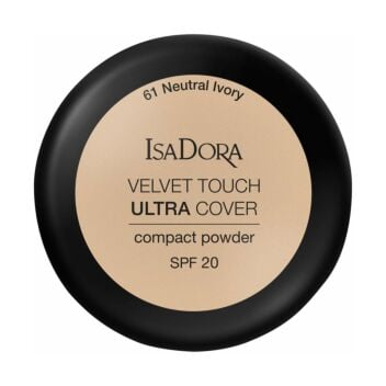 ISADORA VELVET TOUCH ULTRA COVER COMPACT POWDER SPF20 61 NEUTRAL IVORY 7,5 G