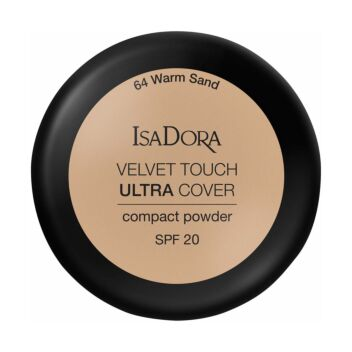 ISADORA VELVET TOUCH ULTRA COVER COMPACT POWDER SPF20 64 WARM SAND 7,5 G