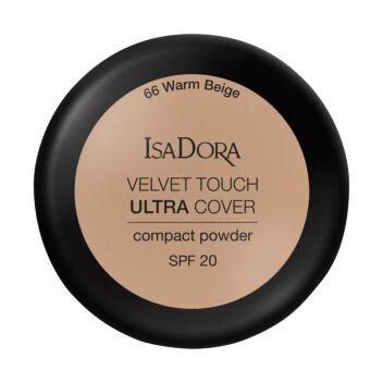 ISADORA VELVET TOUCH ULTRA COVER COMPACT POWDER SPF20 66 WARM BEIGE 7,5 G