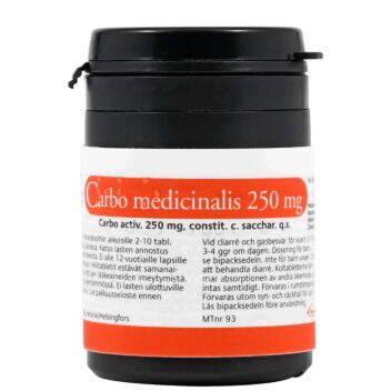 CARBO MEDICINALIS TABLETTI 250MG
