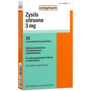 ZYSILS SITRUUNA 3 MG IMESKELYTABLETTI 24 fol