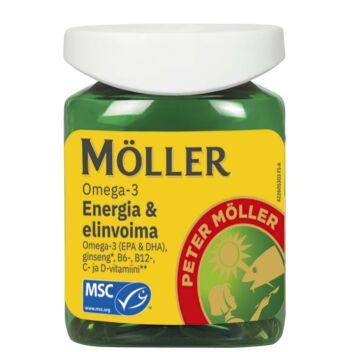 MÖLLER OMEGA-3 ENERGIA & ELINVOIMA KAPS 60 KPL