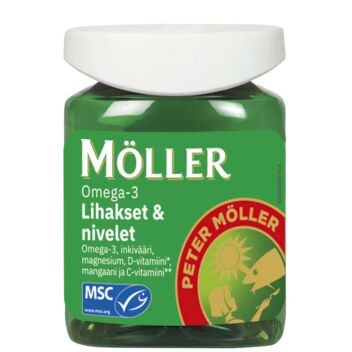 MÖLLER OMEGA-3 LIHAKSET & NIVELET KAPS 60 KPL