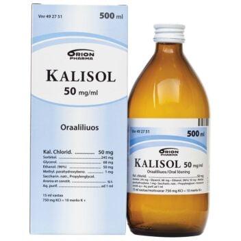 KALISOL 50 MG/ML SUUN KAUTTA OTETTAVA LIUOS 500 ml