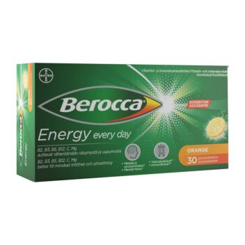 BEROCCA ENERGY ORANGE PORETABL 30 kpl
