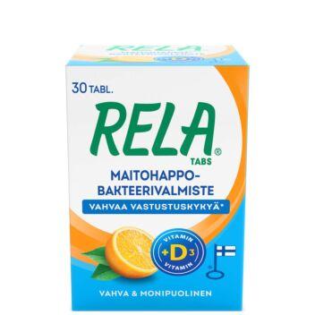 RELA TABS APPELSIINI + D3 TABL 30 kpl