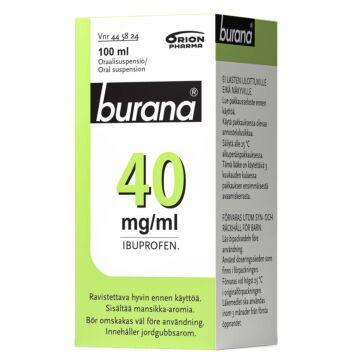 BURANA 40 MG/ML SUUN KAUTTA OTETTAVA LIUOS 100 ml