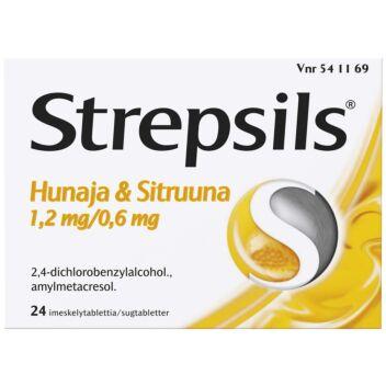 STREPSILS HUNAJA&SITRUUNA IMESKELYTABLETTI