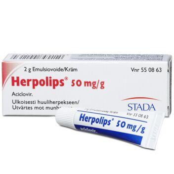 HERPOLIPS 50 MG/G EMULSIOVOIDE 2 g